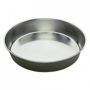 Manqué rond uni fer blanc Ø300 mm (lot de 3)