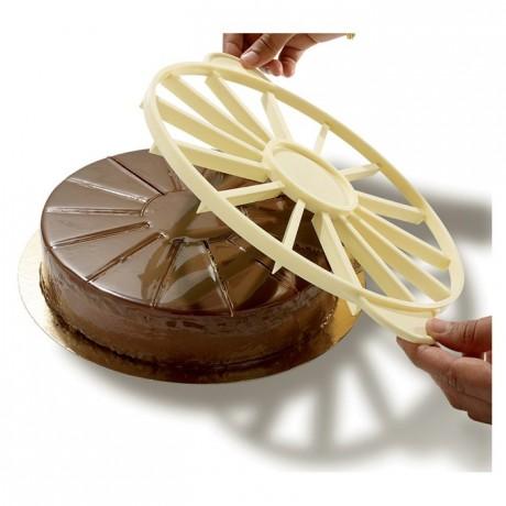 Marqueur-diviseur à gâteau 16 parts