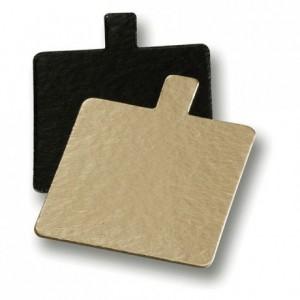 Mini reversible cardboard square gold and black 80 x 80 mm (200 pcs)