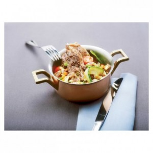 Mini-cooking pot copper/stainless steel Ø 120 mm