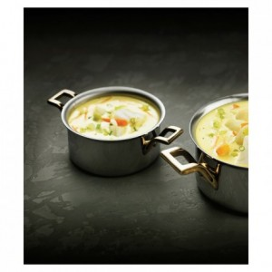 Mini-cooking pot polished stainless steel Ø 120 mm