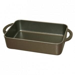 Mini plat fonte noir L 230 mm