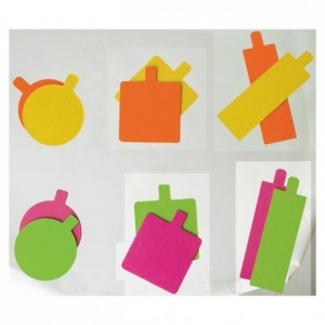 Mini reversible rectangular anis/fushia cardboard 130 x 45 mm (200 pcs)