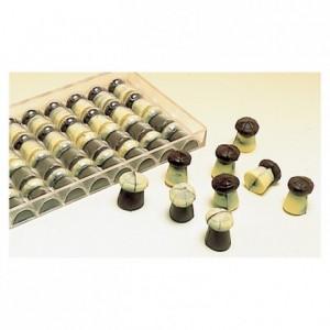 Moule 12 bouchons de champagne en polycarbonate pour chocolat