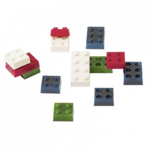Chocolate bricks moulds in polycarbonate 275 x 205 mm (12 moulds)