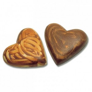 Chocolate mould Makrolon 1 half heart