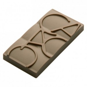 Chocolate mould polycarbonate 12 mini-tablets cocoa