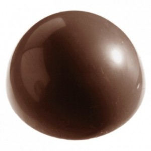 Chocolate mould polycarbonate 15 half sphere