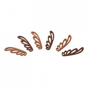 Moule 18 ailes de Papillon en polycarbonate pour chocolat 275 x 175 mm