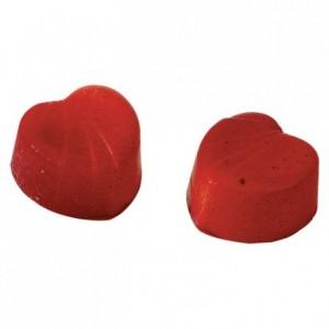 Moule 18 bonbons coeurs en polycarbonate pour chocolat 275 x 135 mm