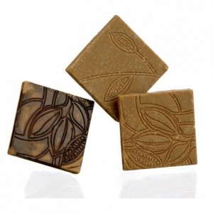 Moule 18 napolitains texture de cacao en polycarbonate pour chocolat