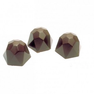 Chocolate mould polycarbonate 21 faceted diamonds