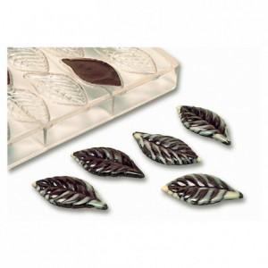 Moule 21 feuilles en polycarbonate pour chocolat