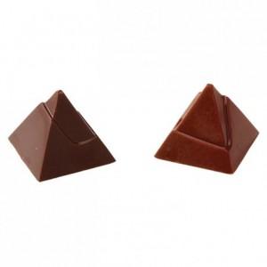 Moule 21 pyramides égyptiennes en polycarbonate pour chocolat