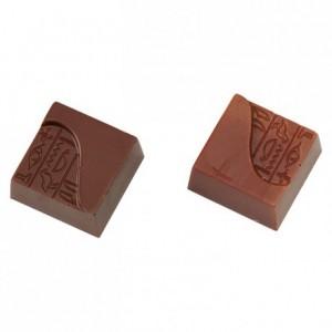 Moule 24 carrés hiéroglyphe en polycarbonate pour chocolat