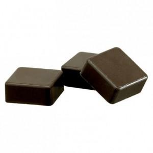 Moule 24 coques carrées en polycarbonate pour chocolat