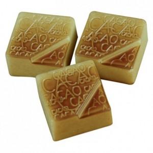Moule 24 pralines carrées cacao en polycarbonate pour chocolat