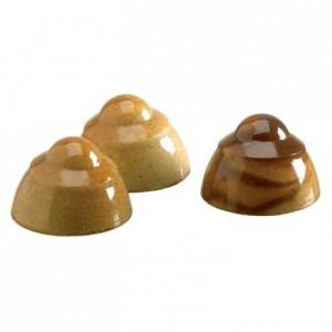 Moule 24 pomponettes joie en polycarbonate pour chocolat