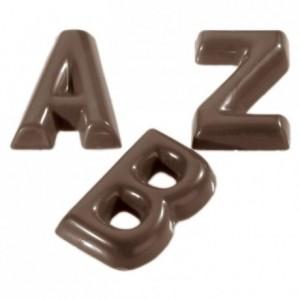 Moule 26 alphabet en polycarbonate pour chocolat
