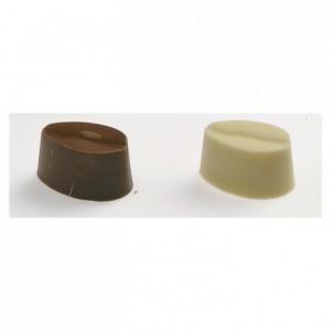 Moule 28 bonbons ovales rayés en polycarbonate pour chocolat