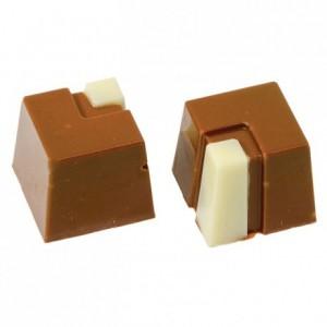 Moule 28 bonbons carrés en polycarbonate pour chocolat