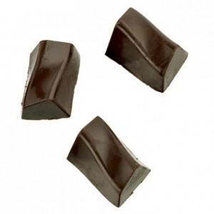 Moule 28 bonbons rectangles zig zag en polycarbonate pour chocolat