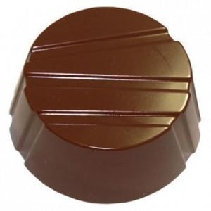 Moule 28 ronds striés en polycarbonate pour chocolat