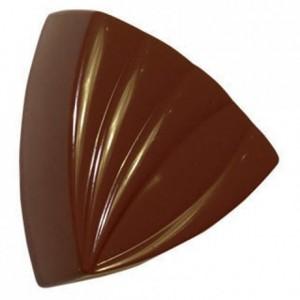 Moule 28 triangles rayés en polycarbonate pour chocolat
