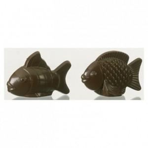 Moule 2 poissons assortis en polycarbonate pour chocolat