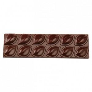 2 almond bars chocolate mould in polycarbonate 275 x 135 mm