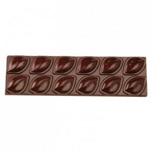 Moule 2 tablettes amande en polycarbonate pour chocolat 275 x 135 mm