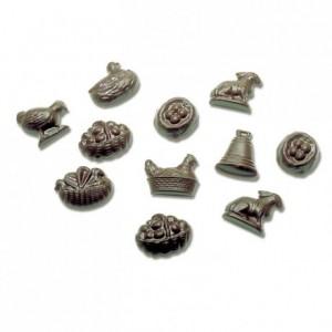 Moule 32 sujets divers Pâques en polycarbonate pour chocolat