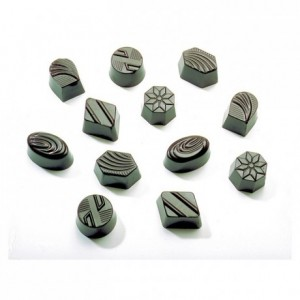 Moule 36 empreintes assorties en polycarbonate pour chocolat