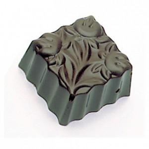 Moule 36 carrés fleurs en polycarbonate pour chocolat