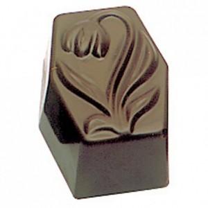 Moule 36 rectangles Tulipe en polycarbonate pour chocolat