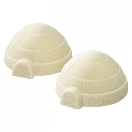 Moule 3 igloos en polycarbonate pour chocolat 275 x 135 mm