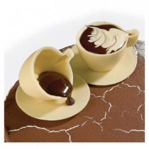 Moule 3 soucoupes en polycarbonate pour chocolat