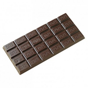 3 100 g grooved chocolate bars in polycarbonate 275 x 175 mm