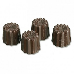 Chocolate mould polycarbonate 40 small ribbed mould