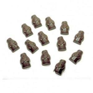 Moule 40 bonhommes de neige en polycarbonate pour chocolat