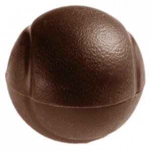 Moule 4 balles de tennis en polycarbonate pour chocolat Ø 60 mm H 30 mm