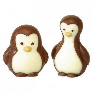 Moule 4 pingouins en polycarbonate pour chocolat