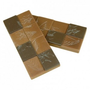 "Chocolate mould polycarbonate 5 ""cocoa flowers"" bar"