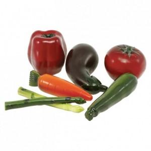 Moule 6 légumes 3D en polycarbonate pour chocolat