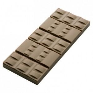 Moule 6 tablettes bracelets 50 g en polycarbonate pour chocolat