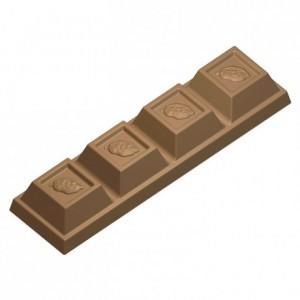 Moule 7 mini barres chocolat en polycarbonate pour chocolat