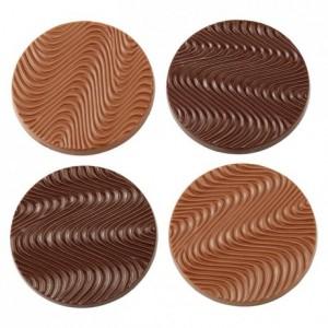 Moule 8 disques mendiant en polycarbonate pour chocolat