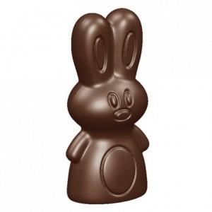Moule 8 petits lapins en polycarbonate pour chocolat 275 x 135 mm
