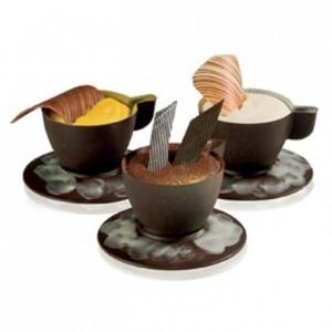 Moule 7 tasses expresso en polycarbonate pour chocolat