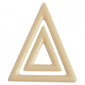 Moule 9 x 2 triangles en polycarbonate pour chocolat
